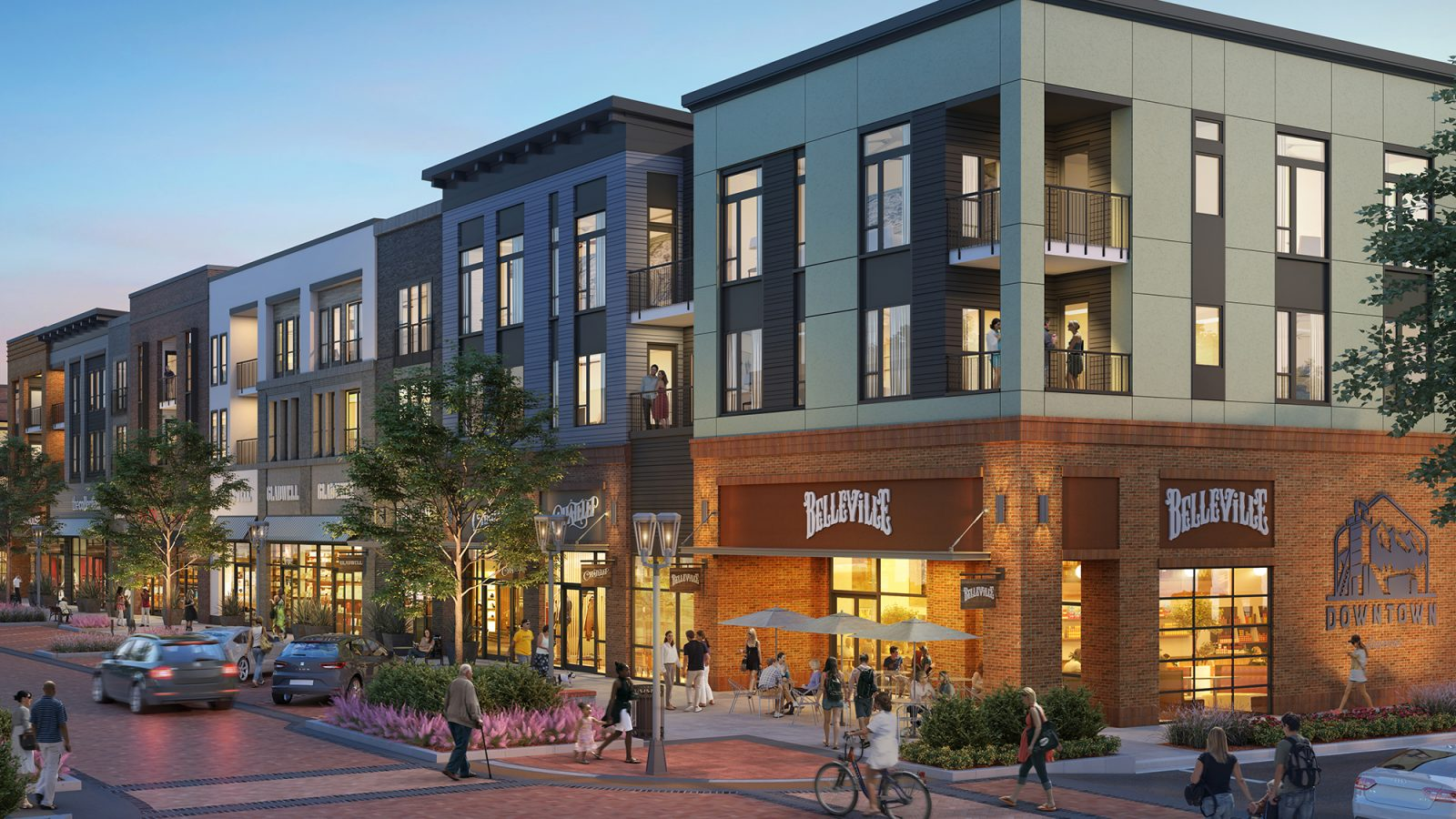 Downtown Superior: Community Rendering Streetscape