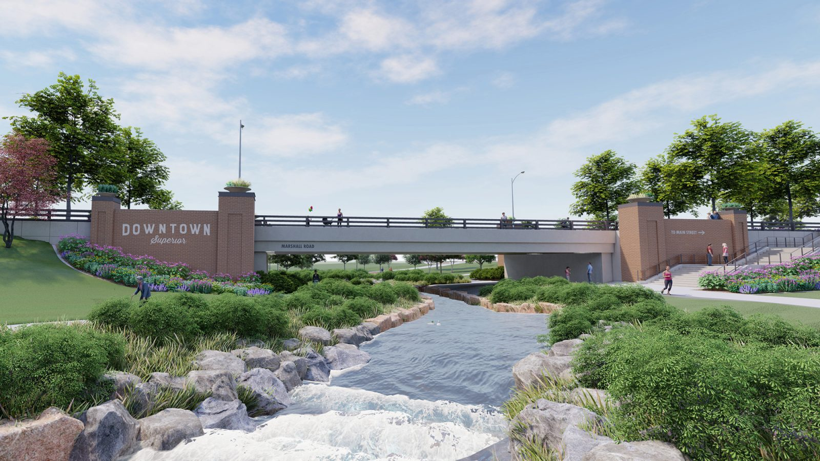 Downtown Superior: Community Rendering - Marshall Road Bridge
