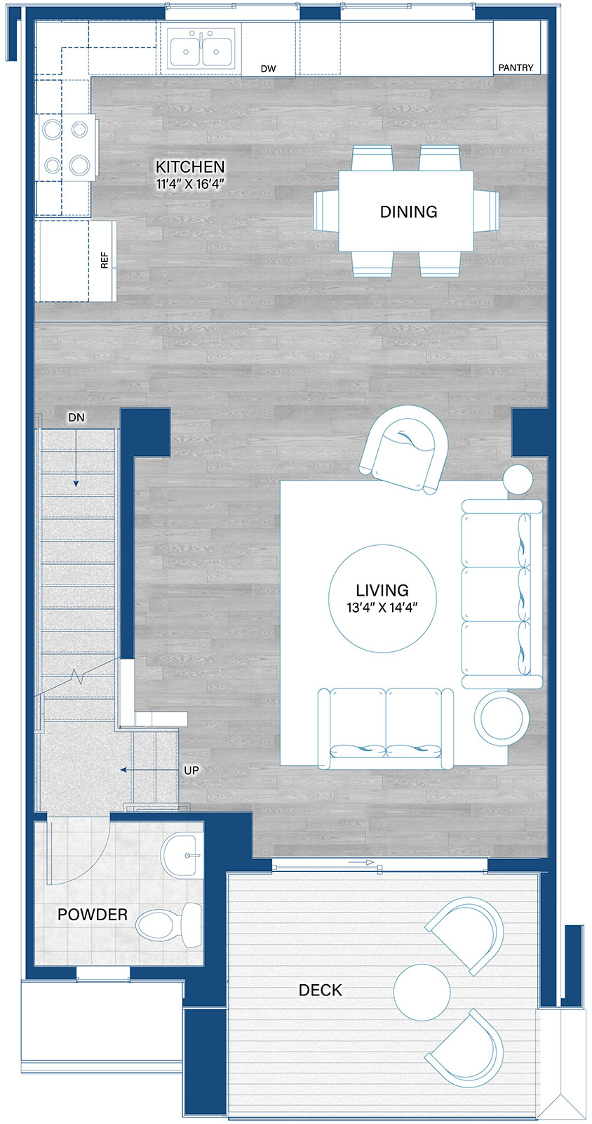 Uptown Home Plan By Thrive Home Builders In Arista 3 Story Rows