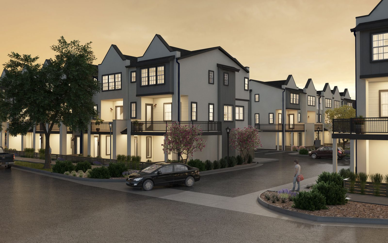 Arista 3-Story Rows: Parking Entry
