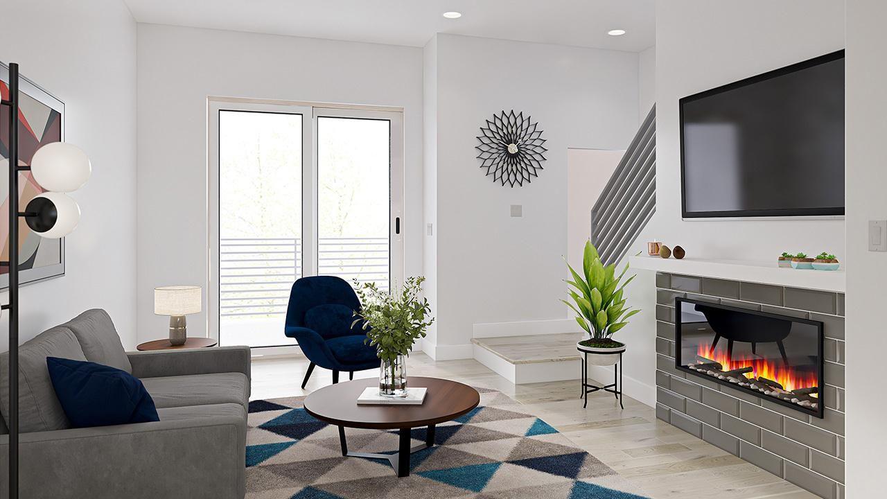Arista 3-Story Rows: Parkland - Living Room