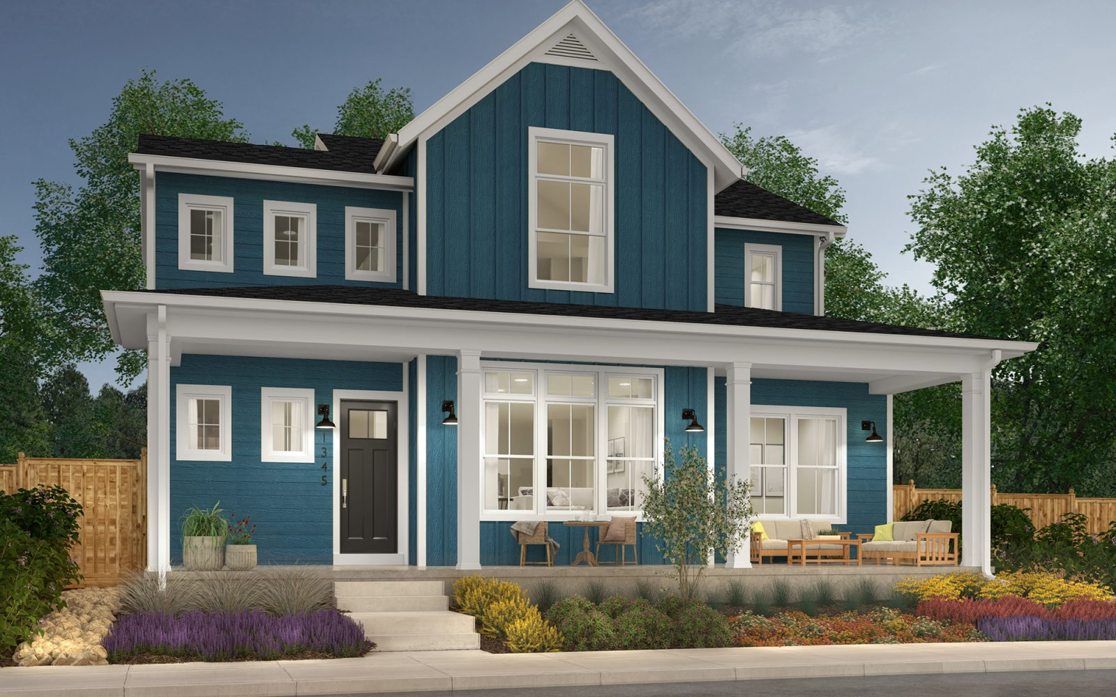 Vitality Collection: Revive - Farmhouse Elevation