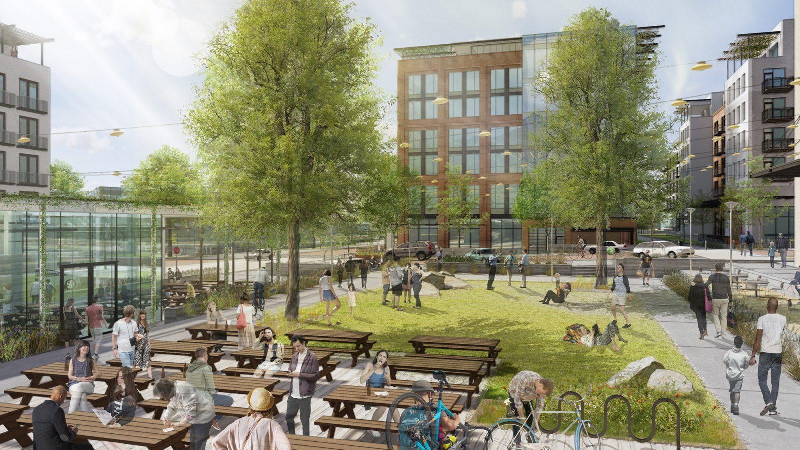 Baseline Community: Courtyard Rendering