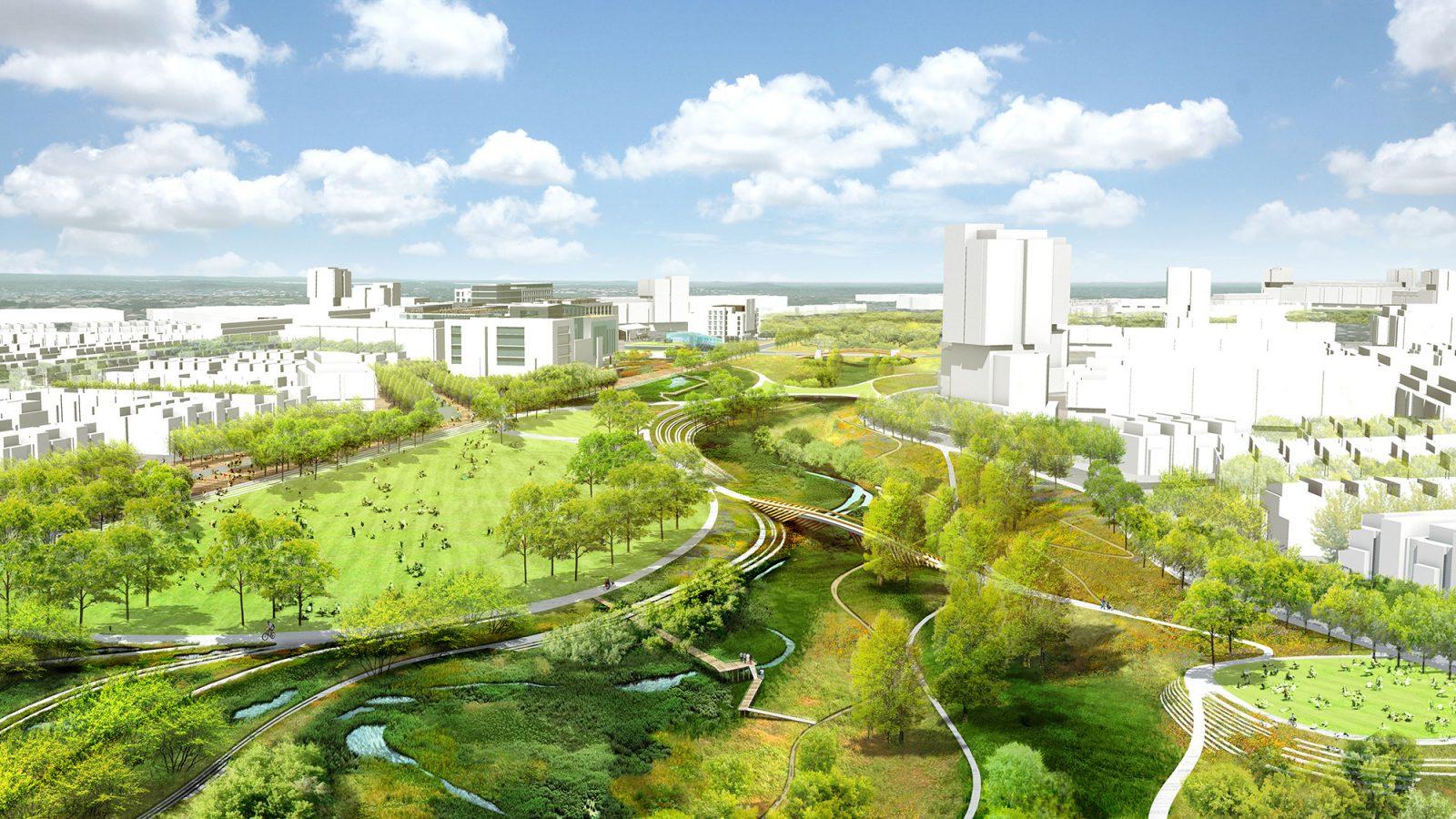 Baseline Community: Linear Park Aerial